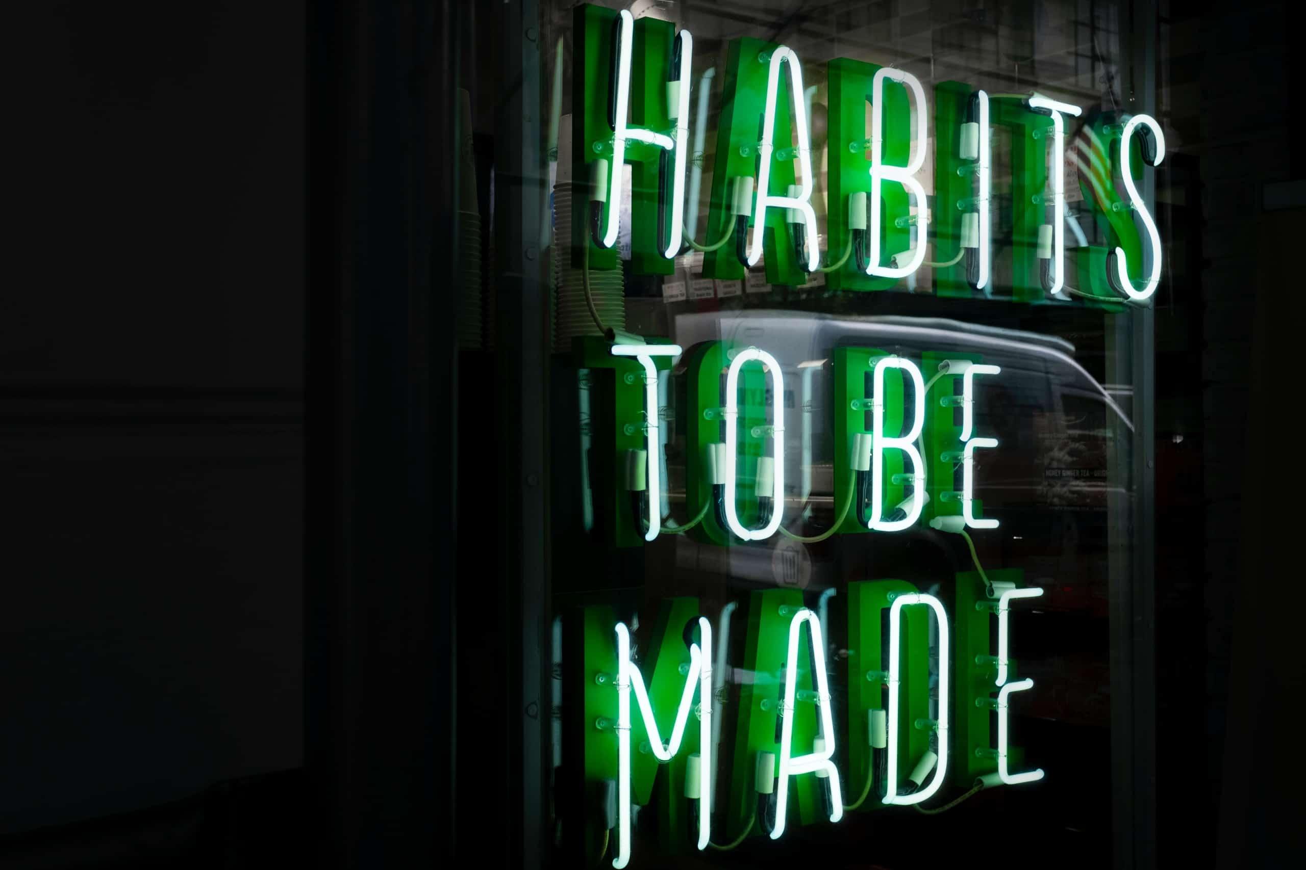 8 goede gewoontes in sales
